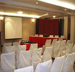 Este salón tiene capacidad para 60 personas. Es muy confortable y moderno.